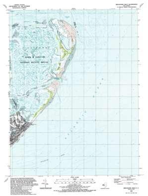 Brigantine Inlet topo map