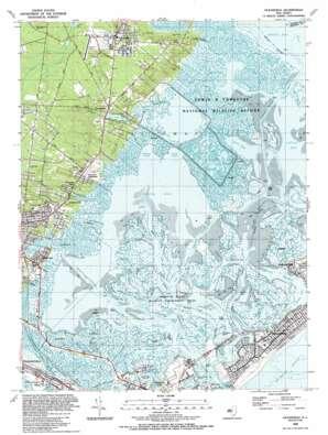 Oceanville topo map
