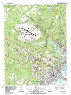 Pleasantville topo map