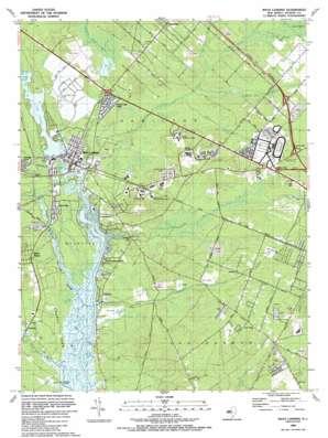 Mays Landing topo map