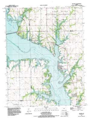 Milford topo map