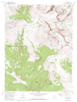 Mount Evans topo map