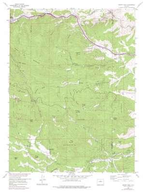 Squaw Pass topo map