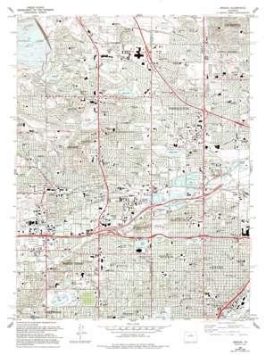Arvada topo map
