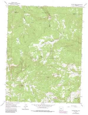 Quaker Mesa topo map