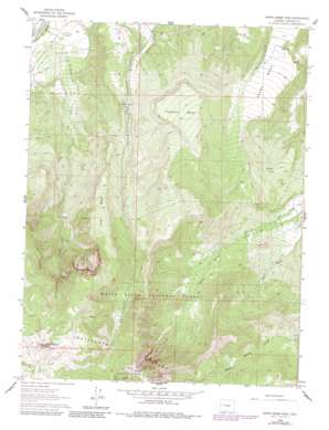 North Mamm Peak topo map