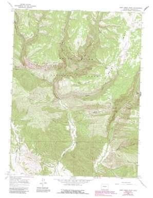 Deep Creek Point topo map