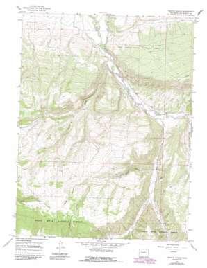 Veatch Gulch topo map