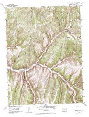 No Name Ridge topo map