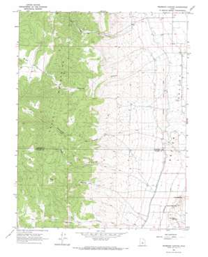 Redmond Canyon topo map