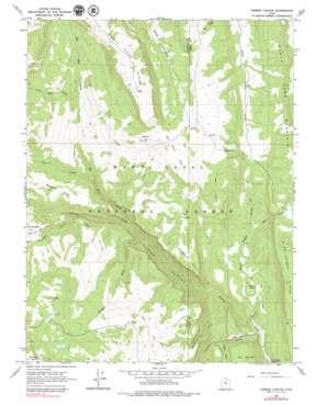 Ferron Canyon topo map