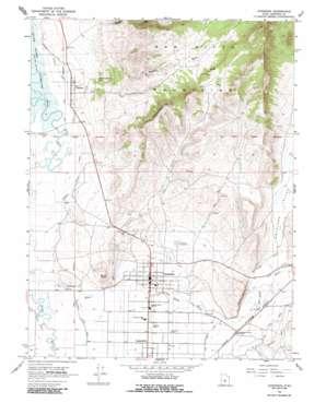 Gunnison topo map