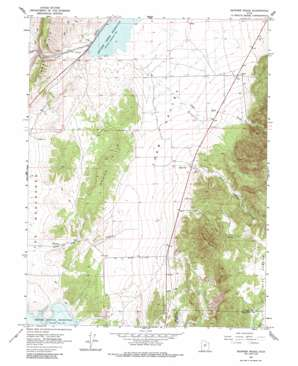 Skinner Peaks topo map