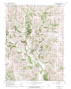 Powersville topo map