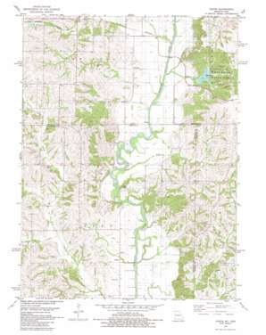 Akron topo map