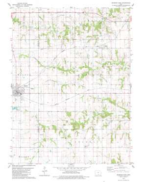 Seymour East topo map