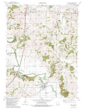 Davis City topo map