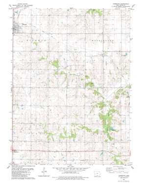 Humeston topo map