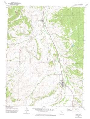 Yampa topo map