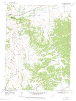 Cow Creek topo map