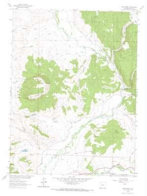 Mad Creek topo map