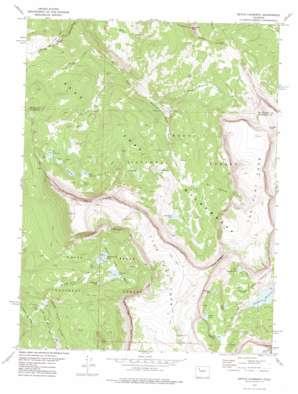 Devils Causeway topo map