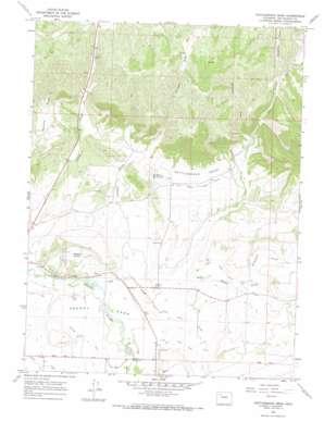 Rattlesnake Mesa topo map