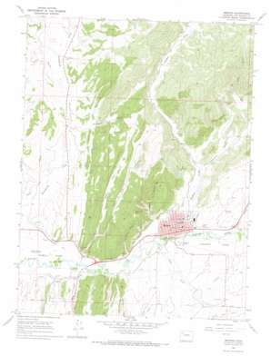 Meeker topo map
