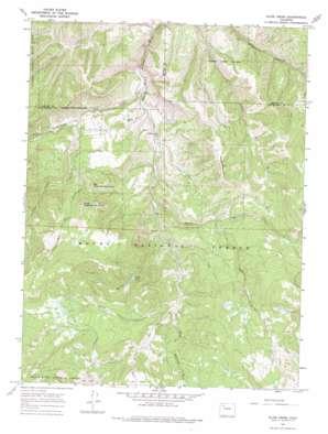Slide Creek topo map