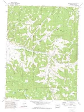 Hayden Gulch topo map