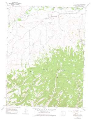 Castor Gulch topo map