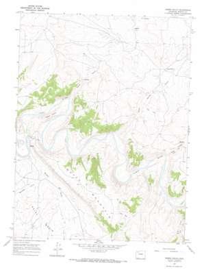Horse Gulch topo map