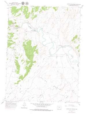 Juniper Hot Springs topo map