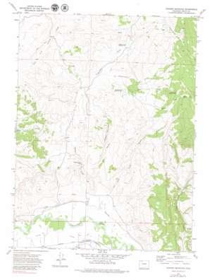 Hooker Mountain topo map