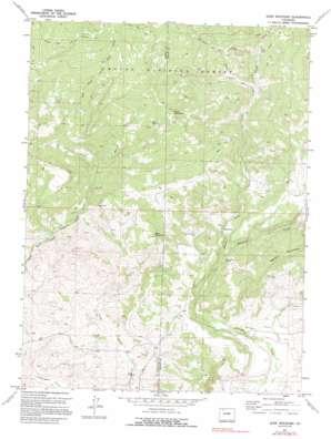Slide Mountain topo map