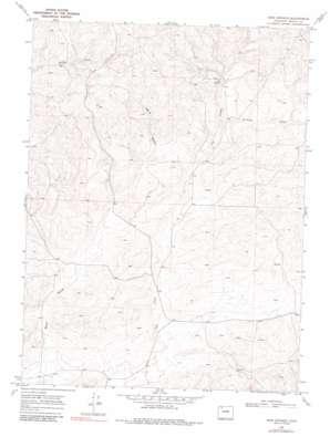 Iron Springs topo map