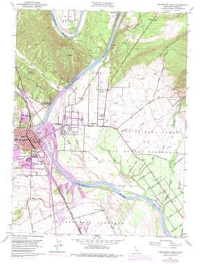 Red Bluff East topo map