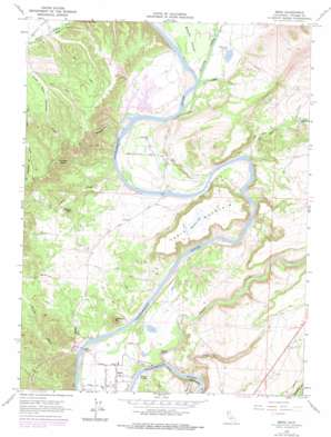 Bend topo map