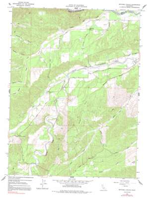 Mitchell Gulch topo map