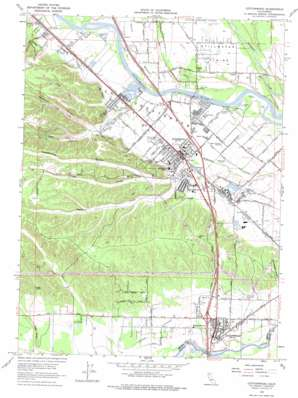 Cottonwood topo map