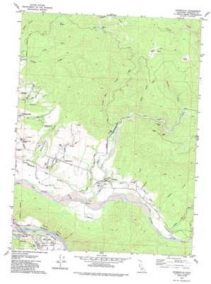 Hydesville topo map