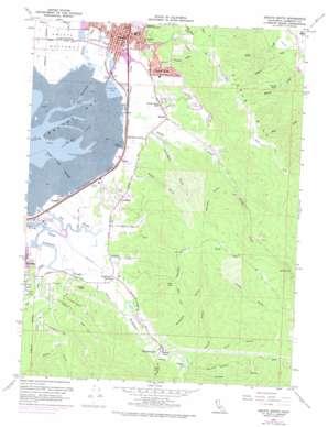 Arcata South topo map