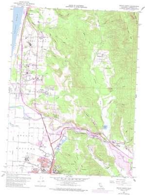 Arcata North topo map