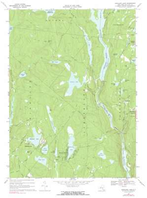 Highland Lake topo map