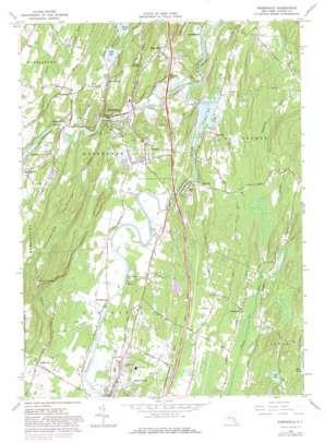 Rosendale topo map