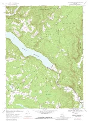 Rondout Reservoir topo map