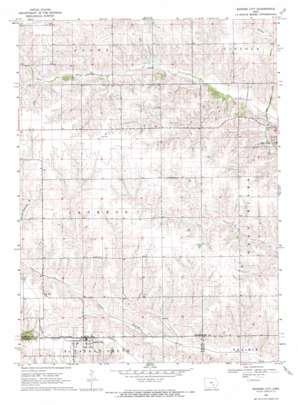 Barnes City topo map