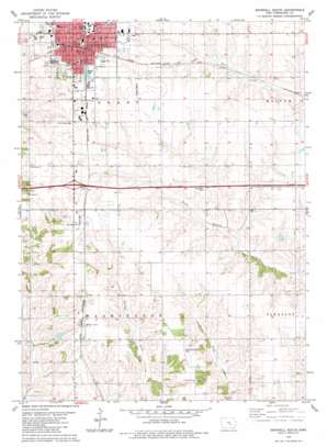 Grinnell South topo map