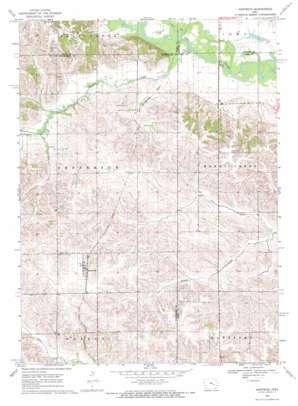 Hartwick topo map