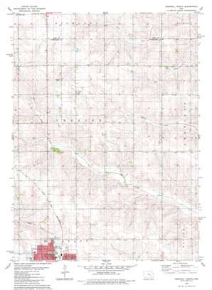 Grinnell North topo map